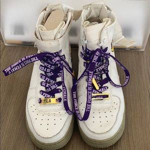 Limited Edition Nike SF Air Force Laker Sneakers